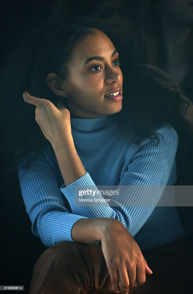 Singer <a gi-track='captionPersonalityLinkClicked' href=/galleries/search?phrase=Solange+Knowles&family=editorial&specificpeople=221489 ng-click='$event.stopPropagation()'>Solange Knowles</a> attends the Baja East Fall 2016 fashion show during New York Fashion Week: The Shows at The Dock, Skylight at Moynihan Station on February 13, 2016 in New York City.