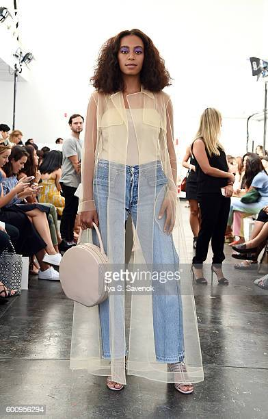Singer Solange Knowles attends the Creatures of Comfort fashion show during New York Fashion Week September 2016 at Industria Studios on September 8...