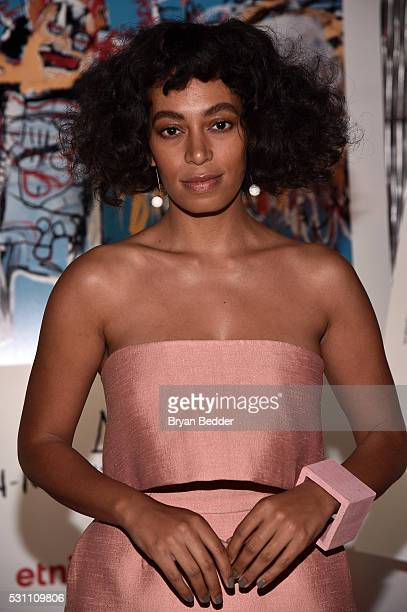 Singer Solange Knowles attends the launch of the JeanMichel Basquiat for Etnia Barcelona Collection on May 12 2016 in Brooklyn New York