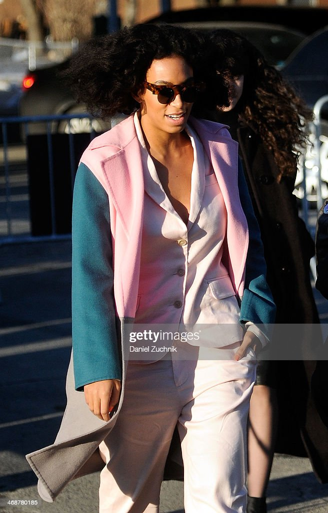 Singer Solange Knowles attends the Marc by Marc Jacobs show on February 11, 2014 in New York City.