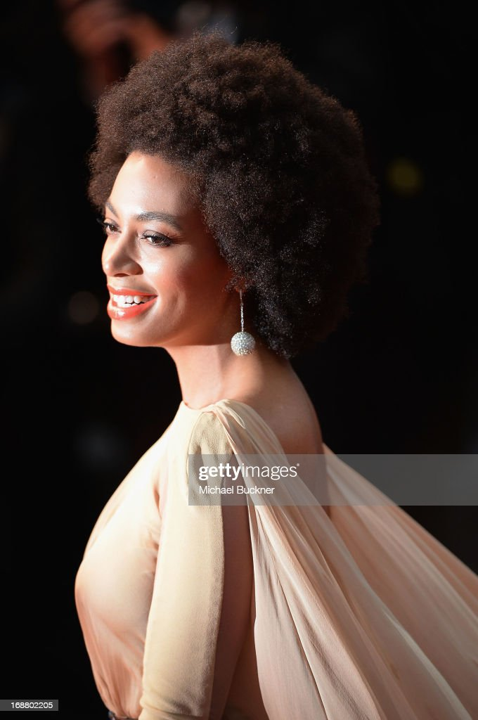 Singer <a gi-track='captionPersonalityLinkClicked' href=/galleries/search?phrase=Solange+Knowles&family=editorial&specificpeople=221489 ng-click='$event.stopPropagation()'>Solange Knowles</a> attends the Opening Ceremony and premiere of 'The Great Gatsby' during the 66th Annual Cannes Film Festival at Palais des Festivals on May 15, 2013 in Cannes, France.