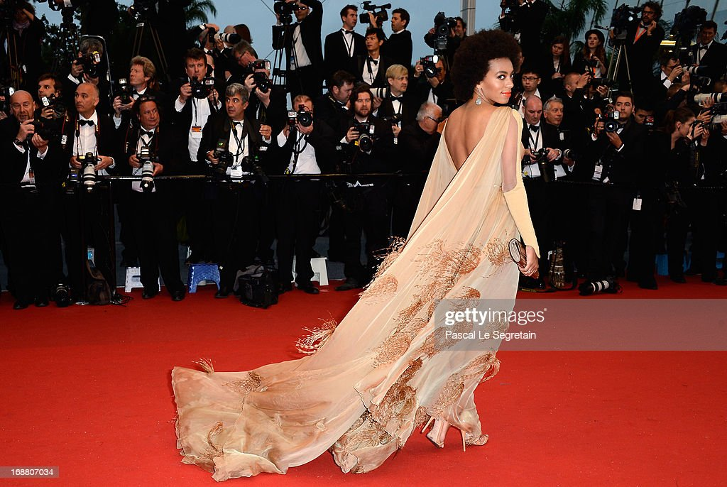 US singer Solange Knowles attends the Opening Ceremony and 'The Great Gatsby' Premiere during the 66th Annual Cannes Film Festival at the Theatre Lumiere on May 15, 2013 in Cannes, France.