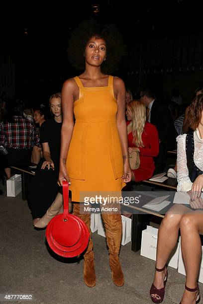 Singer Solange Knowles attends the Zimmermann fashion show during Spring 2016 New York Fashion Week at Art Beam on September 11 2015 in New York City