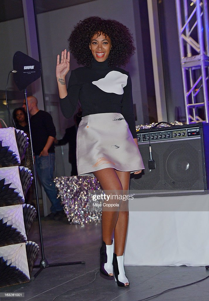 Singer <a gi-track='captionPersonalityLinkClicked' href=/galleries/search?phrase=Solange+Knowles&family=editorial&specificpeople=221489 ng-click='$event.stopPropagation()'>Solange Knowles</a> performs at The Armory Party at MOMA on March 6, 2013 in New York City.