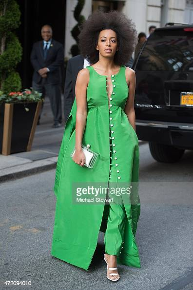 Singer Solange Knowles seen on the streets of Manhattan on May 3 2015 in New York City