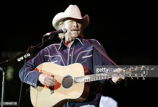 singer songwriter Alan Jackson during Alan Jackson Performs at Fan Fair June 6 2003 at The Coliseum in Nashville Tennessee United States