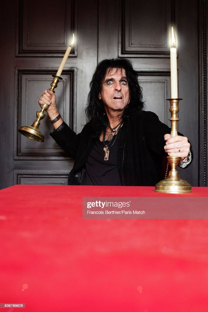 Singer, songwriter, and actor Alice Cooper is photographed for Paris Match on July 4, 2017 in Paris, France.