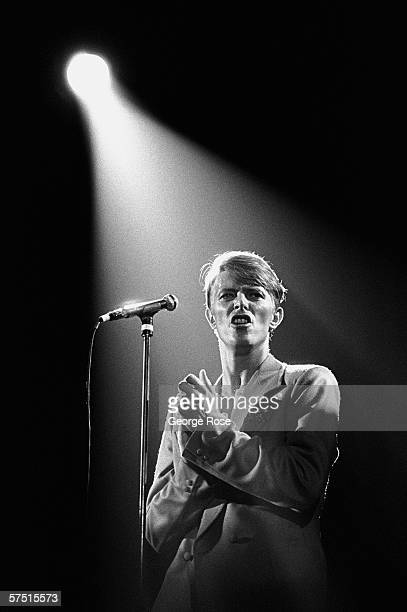 Singer songwriter and film actor David Bowie performs in a 1978 concert at the Sports Arena in San Diego California Bowie had a string of hit albums...