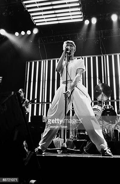 Singer songwriter and film actor David Bowie performs onstage in a 1978 San Diego California concert at the Sports Arena Bowie had a string of hit...