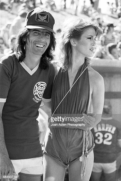 Singer songwriter and musician Alice Cooper with his wife dancer Sheryl Goddard attend the Kenny Rogers Golden Nugget celebrity softball game to aid...