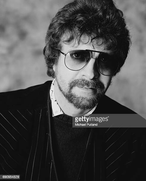 Singer songwriter and musician Jeff Lynne of English rock group The Electric Light Orchestra February 1985