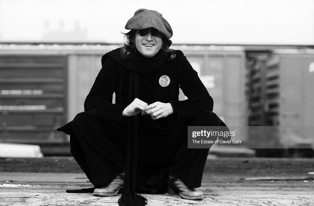 Singer songwriter and musician <a gi-track='captionPersonalityLinkClicked' href=/galleries/search?phrase=John+Lennon&family=editorial&specificpeople=91242 ng-click='$event.stopPropagation()'>John Lennon</a> poses for a portrait on October 25, 1974 in New York City, New York.
