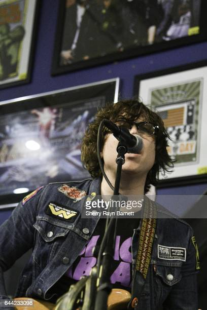 Singer songwriter and musician Ryan Adams performs at Amoeba Music store on February 22 2017 in Los Angeles California