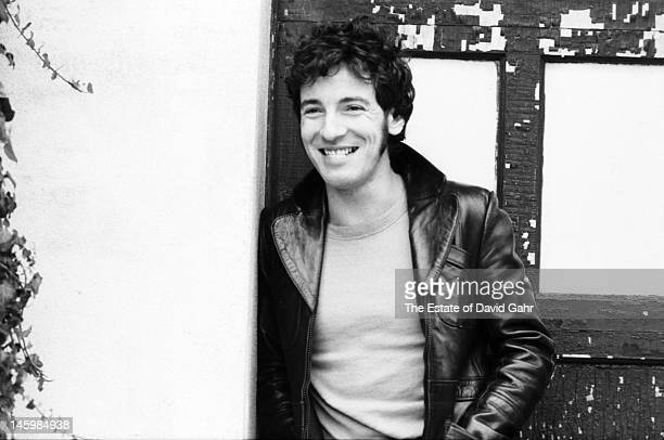 Singer songwriter and performer Bruce Springsteen poses for a portrait on October 17 1979 in Holmdel New Jersey