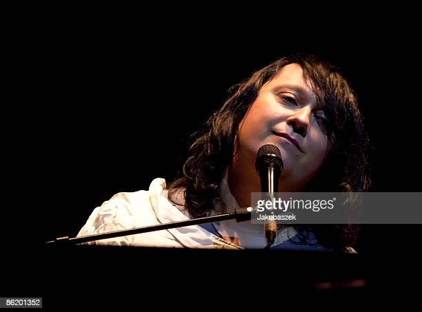 Singer songwriter and pianist Antony Hegarty of the USband Antony And The Johnsons performs live during a concert at the Admiralspalast on April 24...