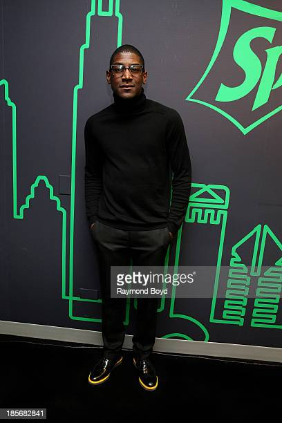 Singer songwriter and producer Labrinth poses for photos in the KISSFM 'Sprite Lounge' in Chicago Illinois on OCTOBER 18 2013