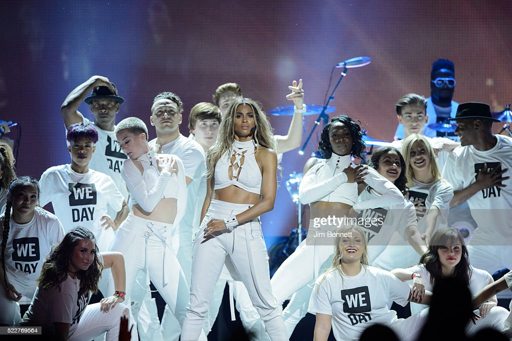 Singer Songwriter and Record Producer Ciara performs onstage during WE Day at KeyArena on April 20 2016 in Seattle Washington