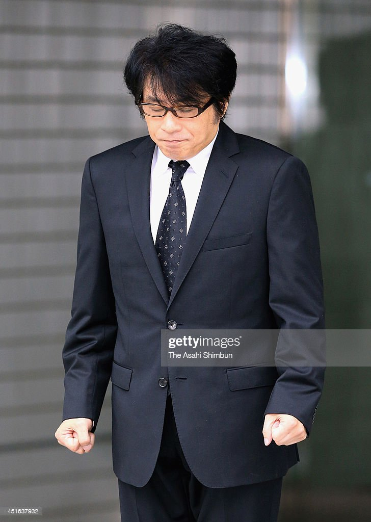 Singer songwriter ASKA, whose real name is Shigeaki Miyazaki, is released on bail from a police station on July 3, 2014 in Tokyo, Japan. ASKA was indicted for possessing and using stimulant drugs.