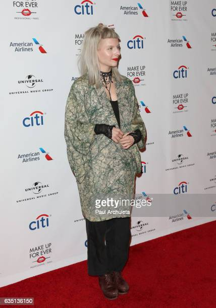 Singer / Songwriter Aurora attends Universal Music Group's 2017 GRAMMY after party at The Theatre at Ace Hotel on February 12 2017 in Los Angeles...