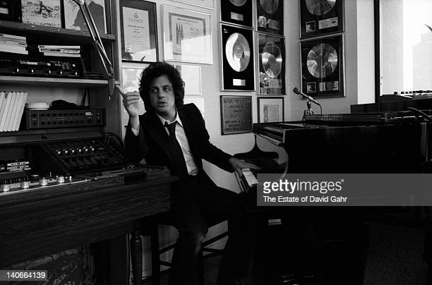 Singer songwriter Billy Joel poses for a portrait in February 1978 at home in New York City New York