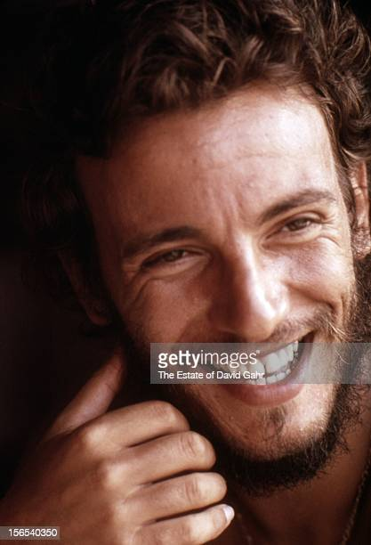 Singer songwriter Bruce Springsteen poses for a portrait in August 1973 in Long Branch New Jersey