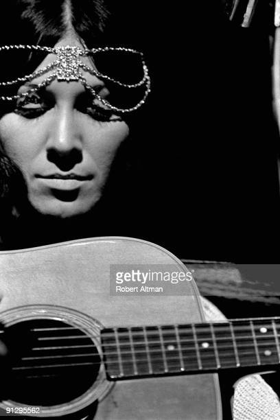 Singer songwriter Buffy SainteMarie performs onstage on May 24 1969 in San Francisco California