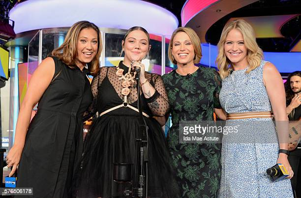 AMERICA Singer songwriter Elle King performs as part of the GMA Summer Concer Series on GOOD MORNING AMERICA 7/15/16 airing on the ABC Television...
