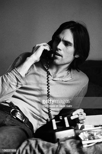 Singer songwriter Eric Anderson poses for a portrait on May 4 1971 at the Hotel Chelsea in New York City New York