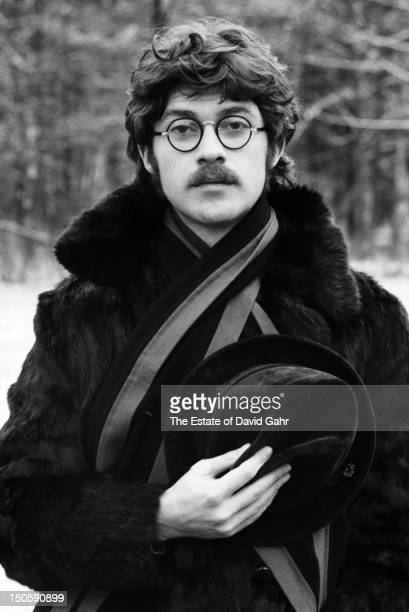Singer songwriter guitarist and founding member of The Band Robbie Robertson poses for a portrait in December 1969 in Woodstock New York