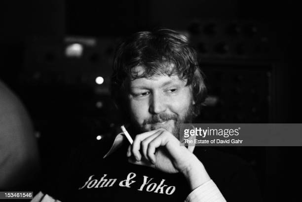 Singer songwriter Harry Nilsson poses for a portrait in May 1974 during a recording session in New York City New York