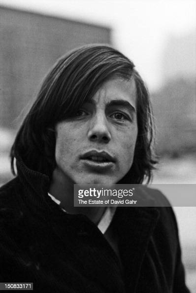 Singer songwriter Jackson Browne poses for a portrait in February 1967 in Greenwich Village New York City New York