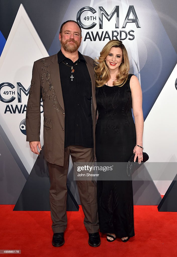 Singer songwriter John Carter Cash and singer/songwriter and fiancee Ana Cristina attend the 49th annual CMA Awards at the Bridgestone Arena on...