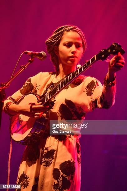 Singer songwriter Kaia Kater performs on stage at O2 Shepherd's Bush Empire on November 17 2017 in London England