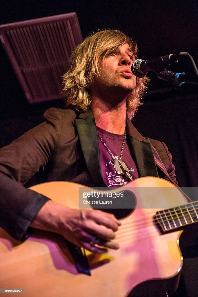 Singer / songwriter Keith Harkin performs at Genghis Cohen Lounge on April 17, 2013 in Los Angeles, California.