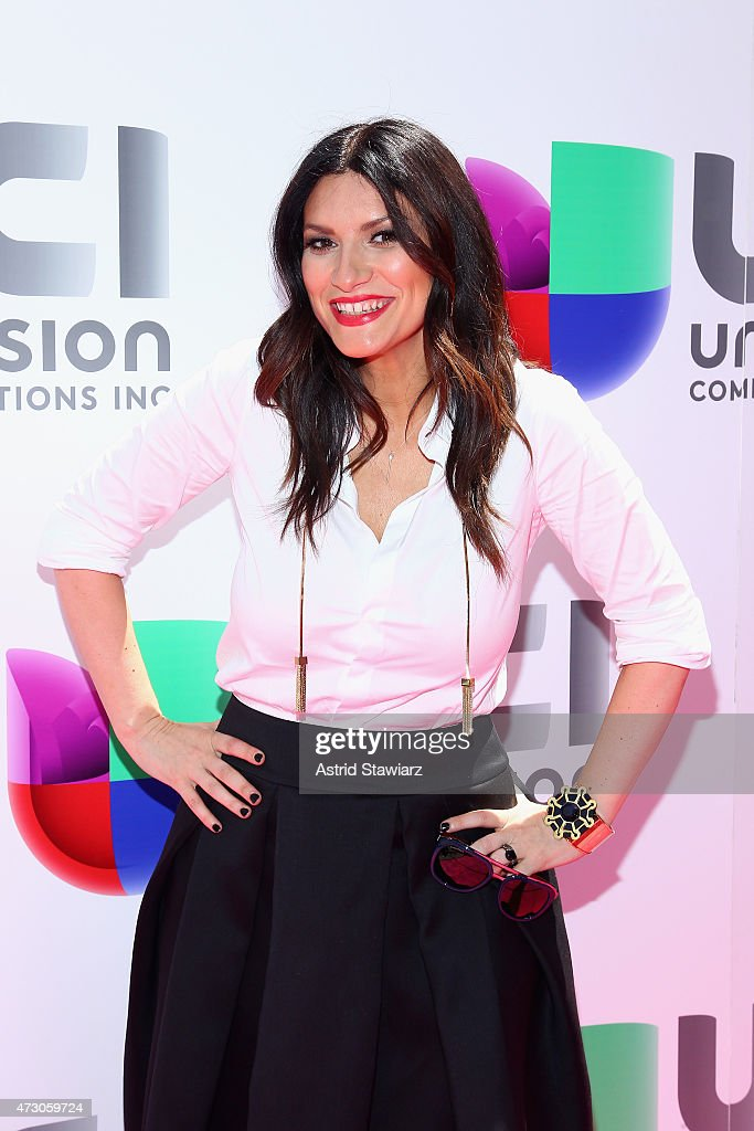 Singer songwriter Laura Pausini attends Univision's 2015 Upfront at Gotham Hall on May 12 2015 in New York City