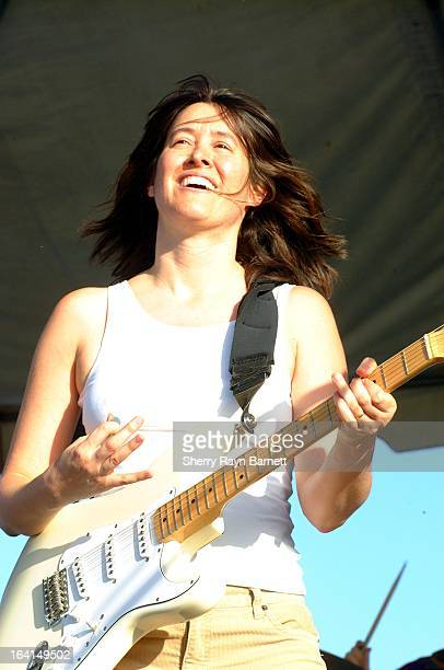 Singer songwriter Michelle Shocked performs live on April 22 2002 in Los Angeles California