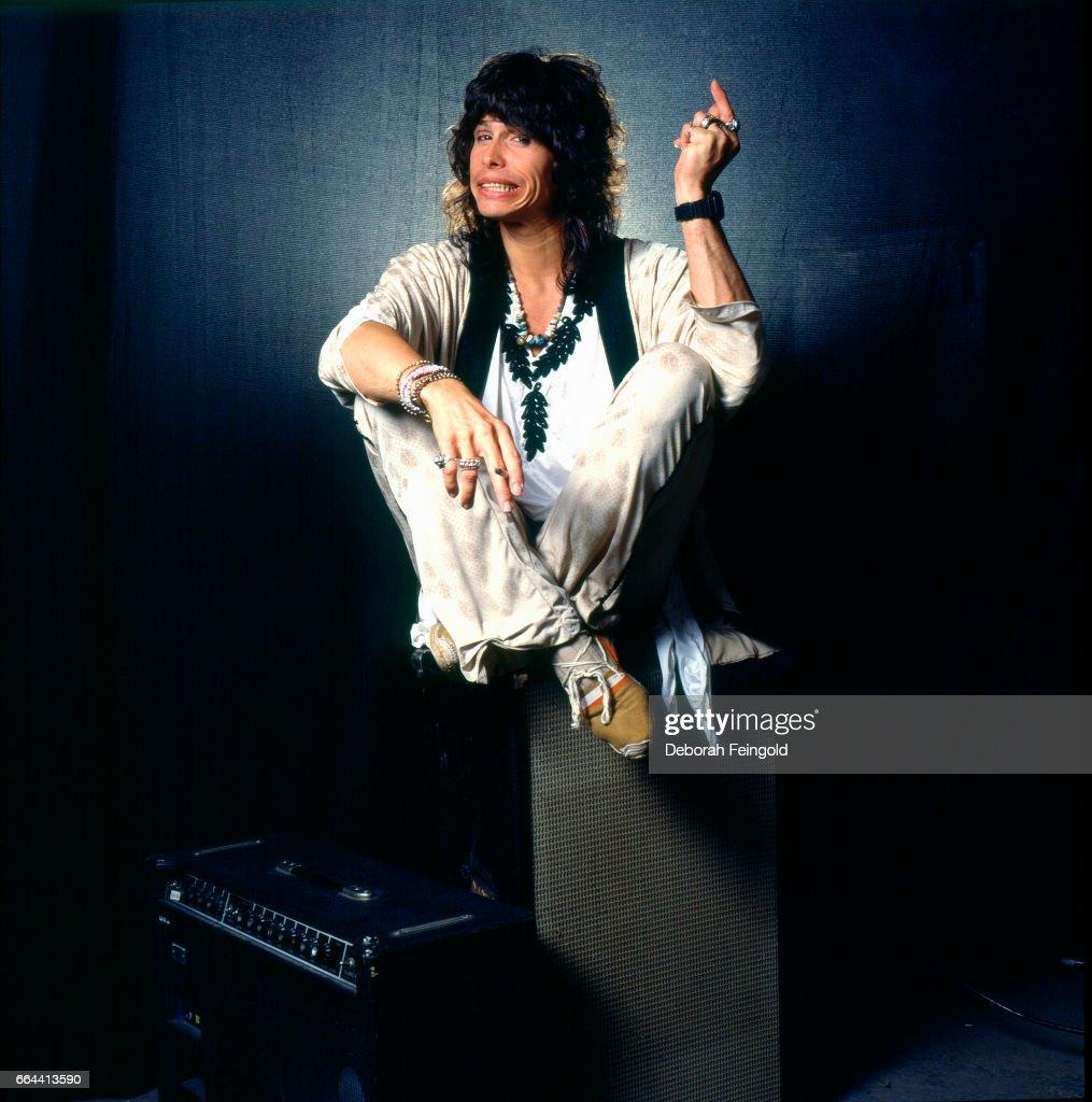 Singer, songwriter, musician in band Aerosmith poses for a portrait in September 1985 in Boston, Massachusetts.