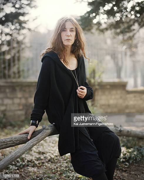 Singer songwriter poet Patti Smith seen here in the gardens of the Fondation Cartier a contemporary art museum in Paris France photographed for...
