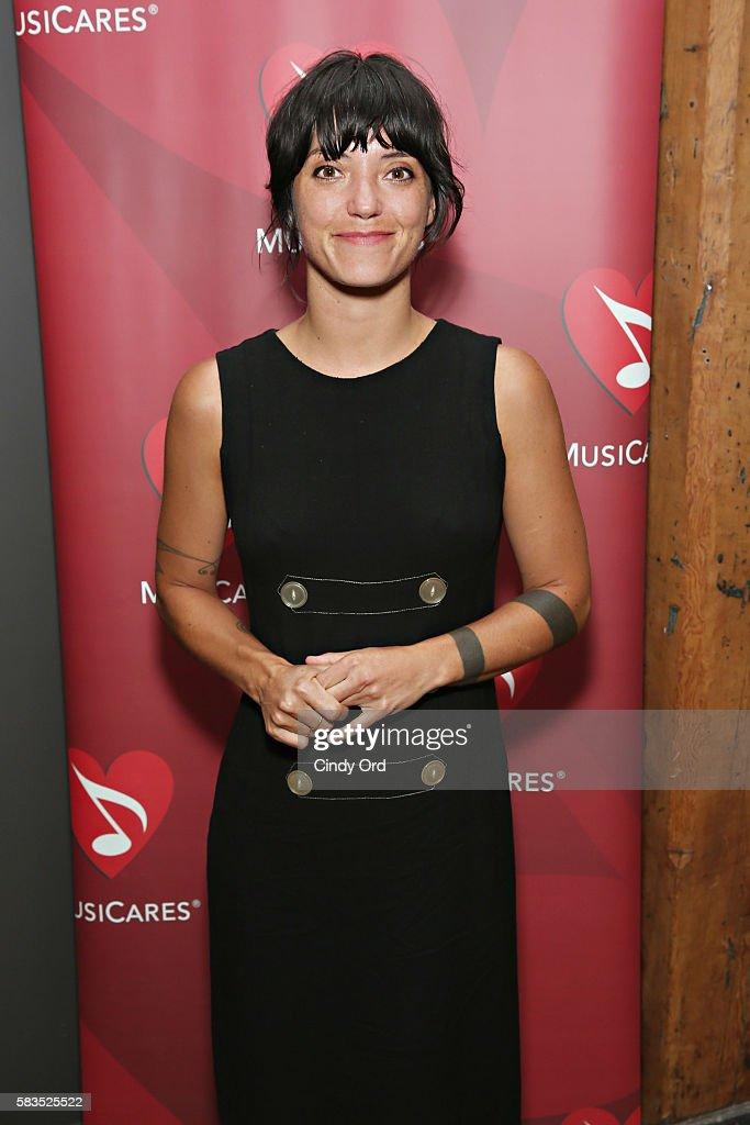 Singer/ songwriter Sharon Van Etten attends the Aurora Showcase at Mick Management on July 25 2016 in Brooklyn New York