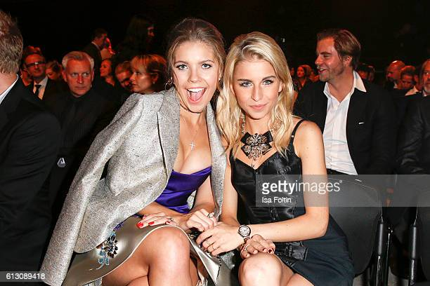 Singer songwriter Victoria Swarovski and fashion blogger Caro Daur attend the Tribute To Bambi at Station on October 6 2016 in Berlin Germany