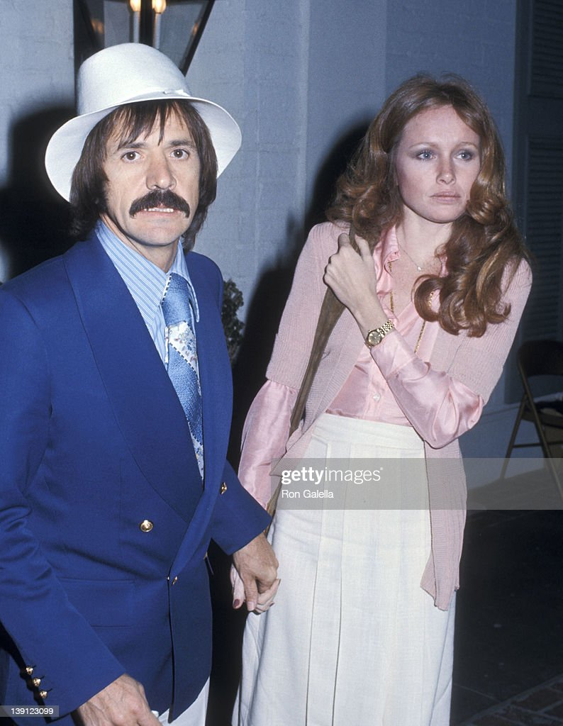 Singer Sonny Bono and girlfriend Connie Foreman on April 3 1975 dine at Chasen's Restaurant in Beverly Hills California