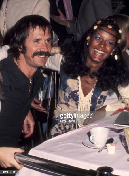 Singer Sonny Bono and girlfriend Susie Coelho attend Lisa Hartman Opening Night Show on March 15 1976 at the Roxy Theatre in West Hollywood California