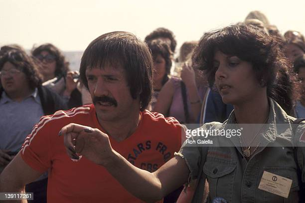 Singer Sonny Bono and girlfriend Susie Coelho attend the 'Battle of the Network Stars II' Television Competition Special on February 5 1977 at...