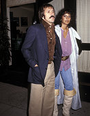 Singer Sonny Bono and girlfriend Susie Coelho on June 23 1977 dine at Mr Chow's Restaurant in Beverly Hills California