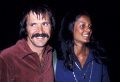 Singer Sonny Bono and girlfriend Susie Coelho on March 17 1976 dine at the Rainbow Bar and Grill in West Hollywood California