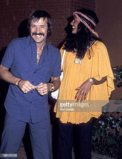 Singer Sonny Bono and girlfriend Susie Coelho on March 20 1976 dine at Pips Club in Los Angeles California