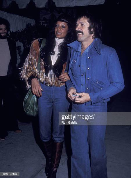 Singer Sonny Bono and girlfriend Susie Coelho on March 4 1976 dine at Chianti Restaurant in Los Angeles California