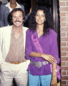Singer Sonny Bono and girlfriend Susie Coelho on October 3 1979 dine at La Scala Restaurant in Beverly Hills California