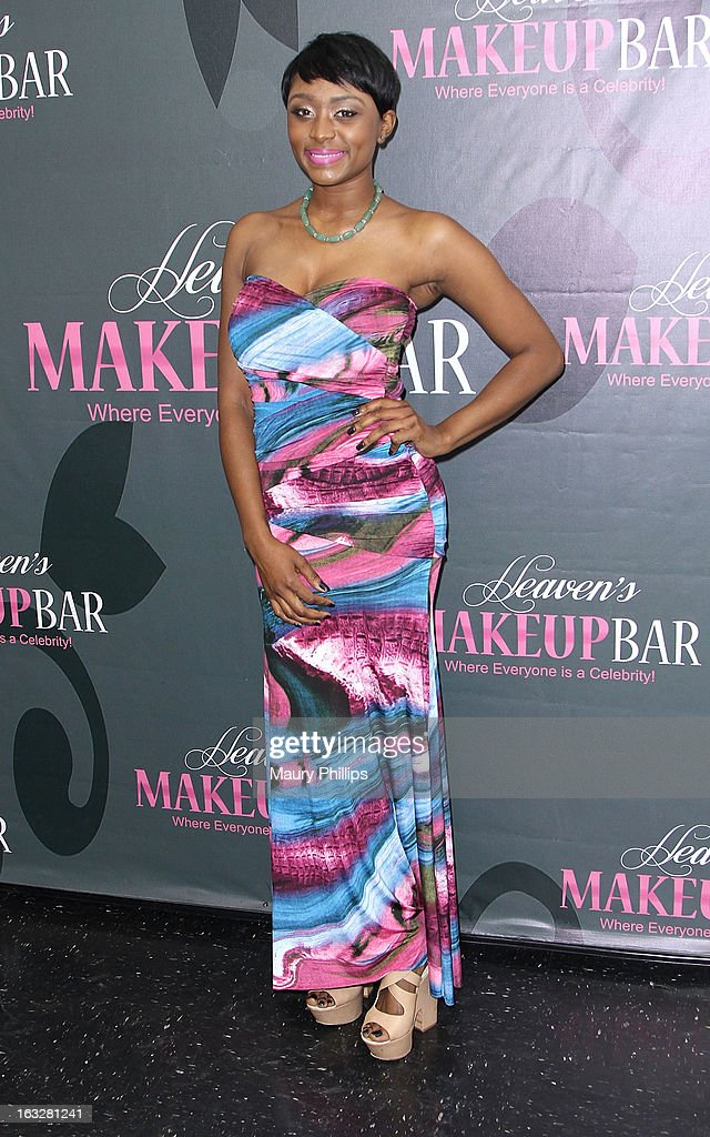 Singer Sonyae Elise attends the launch party for VH1's 'Love & Hip Hop' Star Erica Mena new cosmetic line 'Lady J Cosmetics' at Heaven's Makeup Bar on March 6, 2013 in Burbank, California.