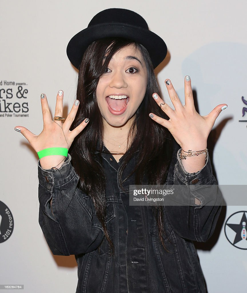 Singer Sophia Black attends the 7th Annual 'Stars & Strikes' Celebrity Bowling and Poker Tournament benefiting A Place Called Home at PINZ Bowling & Entertainment Center on March 6, 2013 in Studio City, California.